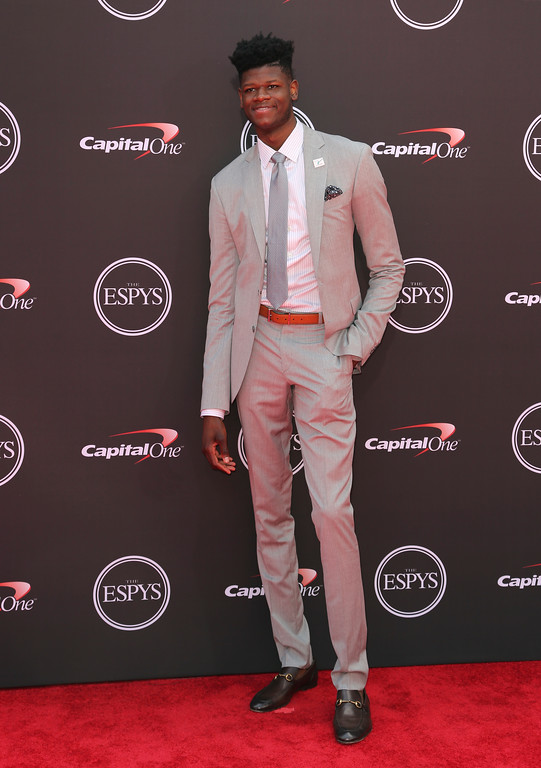 . Orlando Magic\'s Mohamed Bamba  arrives at the ESPY Awards at Microsoft Theater on Wednesday, July 18, 2018, in Los Angeles. (Photo by Willy Sanjuan/Invision/AP)