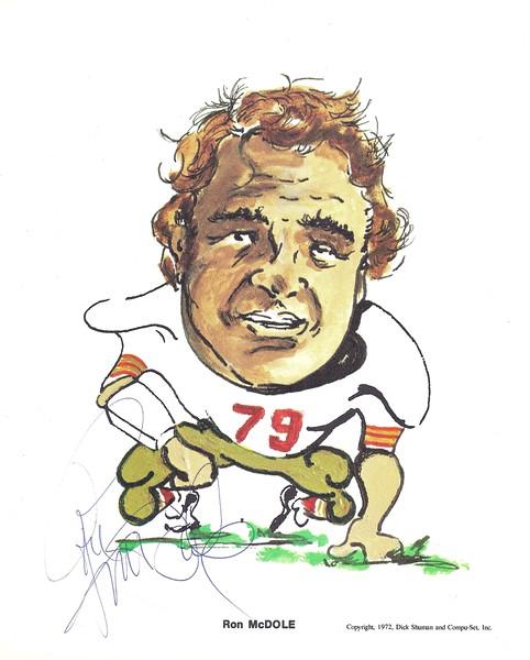 1972 Compu-Set Redskins Ron McDole