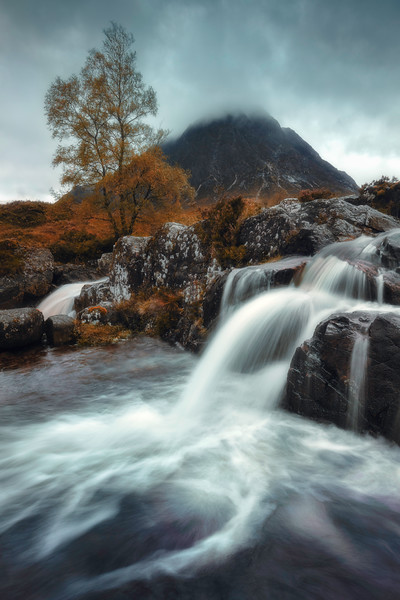 Glen Coe Famous Etive Mor river waterfall fall colors.jpg