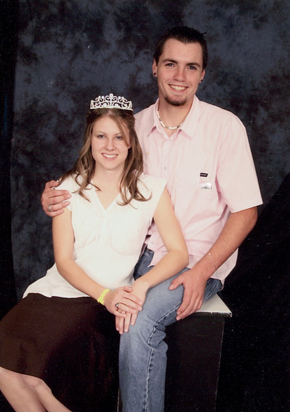 To my Sister (Abbi)   I hope that you like the picture!  Its always fun to have royalty in the family he heh.  Enjoy it because after this year you won't have a picture of me with a guy until I am married. Well love ya tons.  Love UR lil Sis Annie