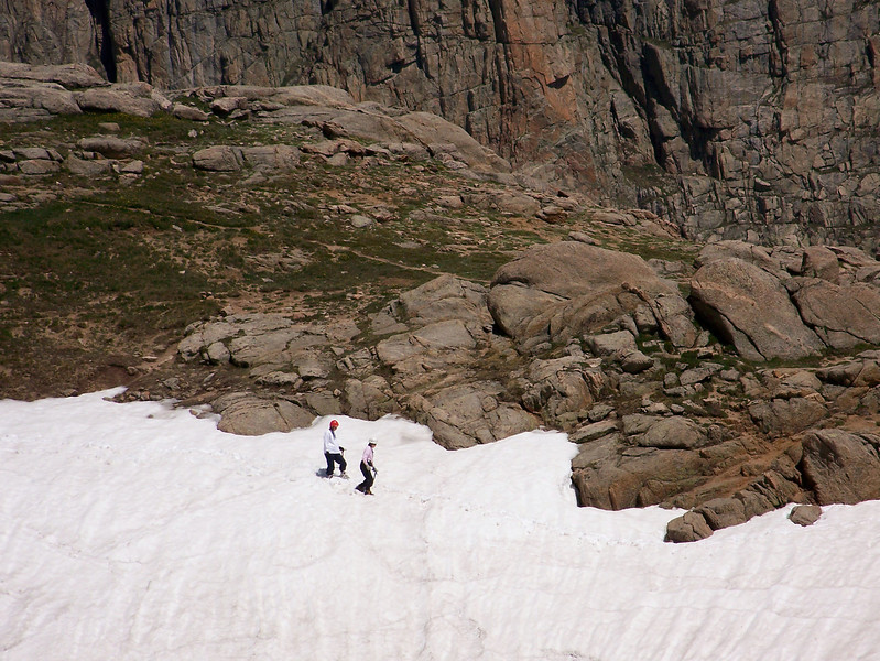 July on the glacier near Mount Evans