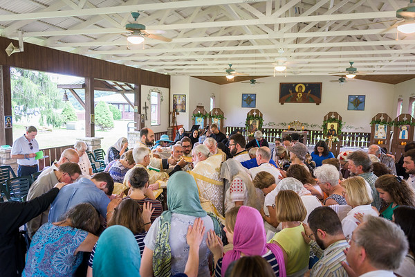 Holy Unction at the Orthodox Monastery of the Transfiguration