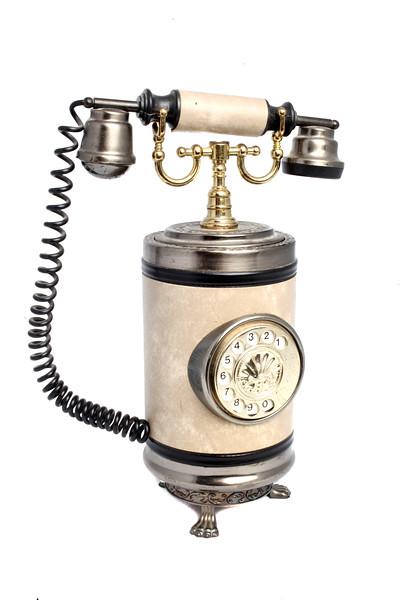Présentoir à cigarettes musical en forme de téléphone ancien, vers 1980.