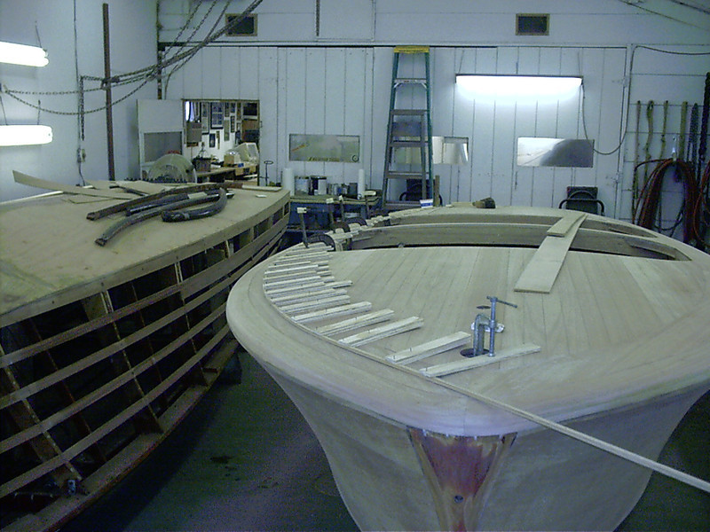 Front view of outside seam.