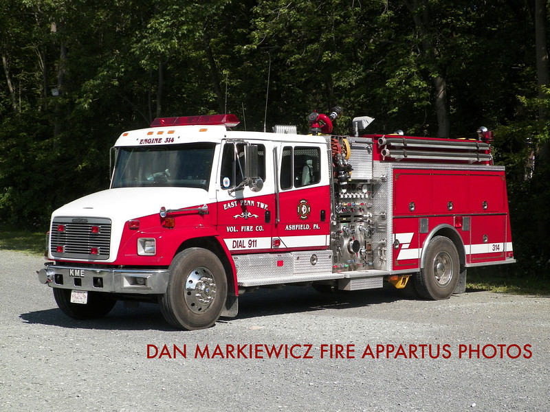 EAST PENN TWP. FIRE CO. ENGINE 314 1996 FREIGHTLINER/KME PUMPER