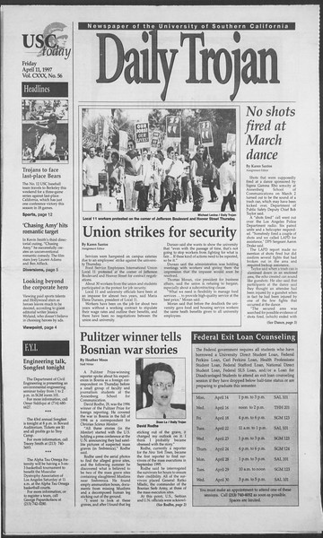 Daily Trojan, Vol. 130, No. 56, April 11, 1997