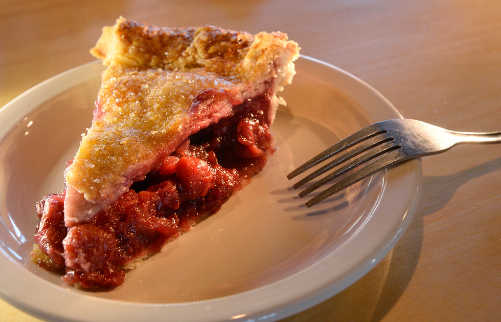. The cherry pie at the GoodBird Kitchen,  a new restaurant in Longmont, CO on Thursday, February 25, 2016.  It is a supreme casual comfort food kinda place and is located at 1258 S. Hover Road in Longmont. (Photo by Cyrus McCrimmon/ The Denver Post)