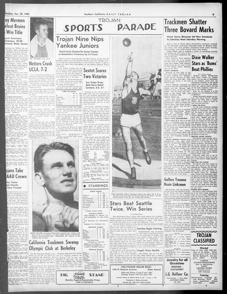 Daily Trojan, Vol. 33, No. 124, April 20, 1942