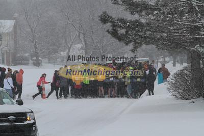 Start - 2014 Riverview Winterfest 4 Mile Run