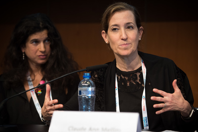 22nd International AIDS Conference (AIDS 2018) Amsterdam, Netherlands   Copyright: Marcus Rose/IAS  Photo shows: The 4th HIV Exposed Uninfected (HEU) Child and Adolescent Workshop. Claude Ann Mellins, Columbia University, United States.