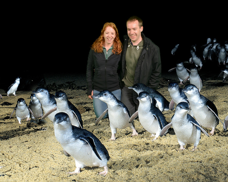 Kris and me with penguins