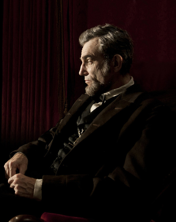 ". This publicity film image released by DreamWorks and Twentieth Century Fox shows Daniel Day-Lewis portraying Abraham Lincoln in the film ""Lincoln.\"" Lewis was nominated  for an Academy Award for best actor on Thursday, Jan. 10, 2013, for his role in the film.  The 85th Academy Awards will air live on Sunday, Feb. 24, 2013 on ABC.    (AP Photo/DreamWorks, Twentieth Century Fox, David James, file)"