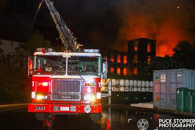 Multiple Alarm Mill Building Fire - 737 Bank St, Waterbury, CT - 7/30/18