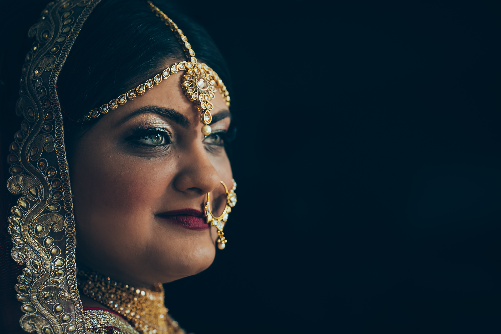 Traditional Hindu Bride before her wedding