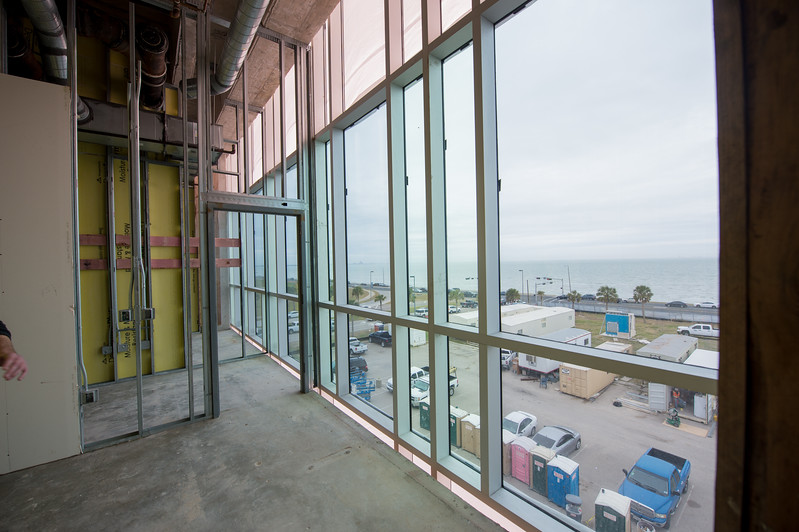 A view from inside one of the offices in Tidal Hall.