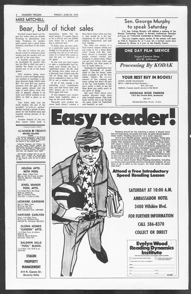 Summer Trojan, Vol. 62, No. 3, June 26, 1970