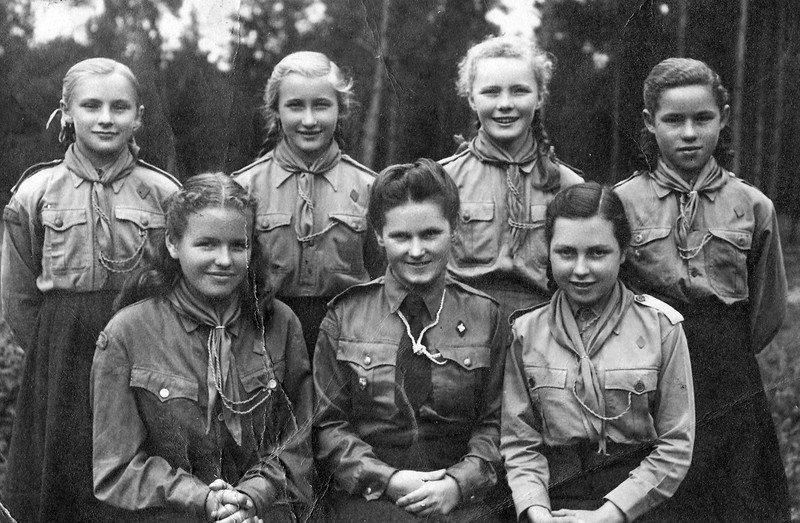 Girl Scout group in Puerten, Bavaria - 1948