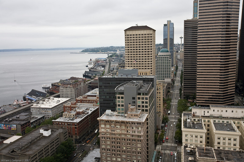 Seattle View from top of the Smith Bulding
