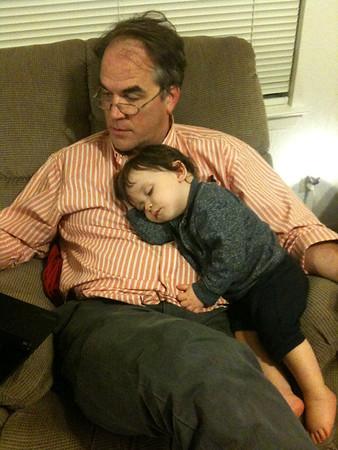 Mateo and Daddy (November 2011)
