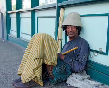 Homeless & men in  Downtown Honolulu