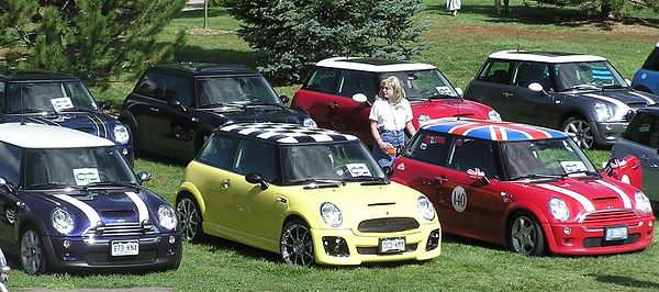 Our MINI on the left.
