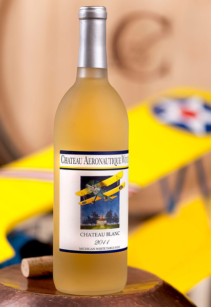 Lorenzo Lizarralde's 2011 Chateau Blanc at the Chateau Aeronautique Winery in Jackson, MI on May 4, 2013. (Photo by Mark Bialek)