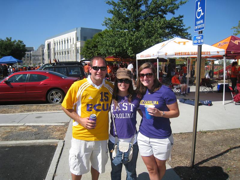 9/18/2010 ECU @ VT - Jon, Sarah, Cat