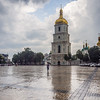 Rain Outside St Sophias Cathedral, Kiev, Ukraine