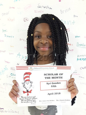 Scholar of the Month- April