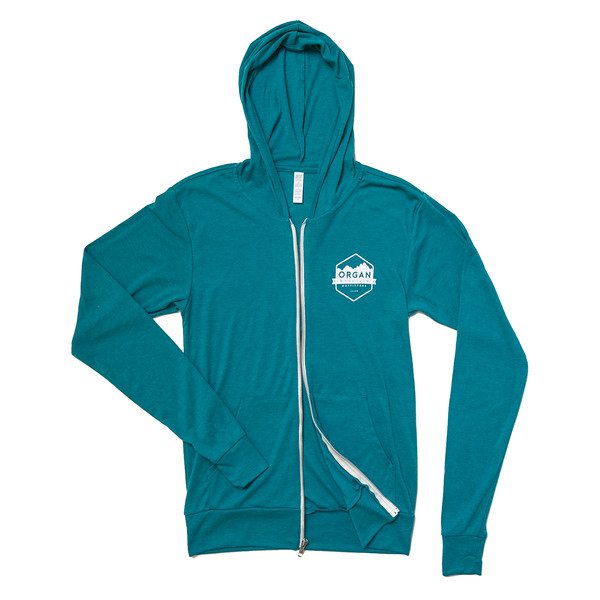 Organ Mountain Outfitters - Outdoor Apparel - Outerwear - Classic Lightweight Zip Up Hoodie - Teal Front.jpg