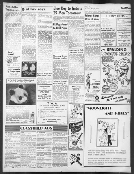 Daily Trojan, Vol. 39, No. 144, May 20, 1948
