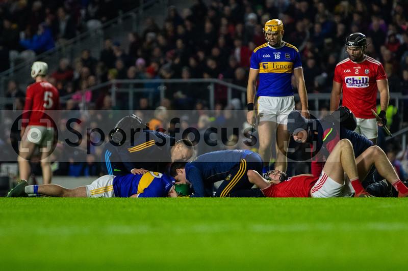 Tipperary's John O'Dwyer lying injured