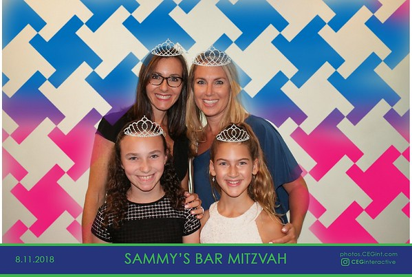 2018-08-11 Sammy's Bar Mitzvah - Photo Graffiti Wall