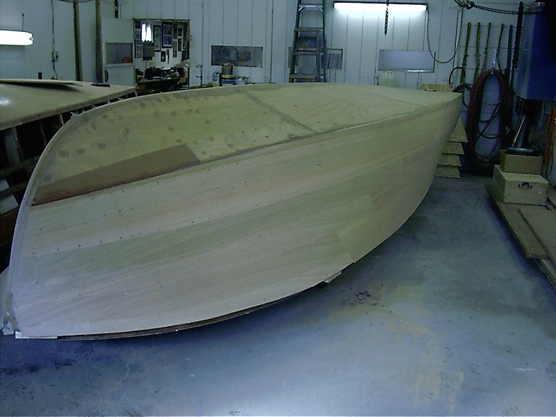 Front starboard view of finished sanded side.