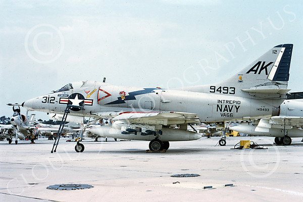US Navy VA-66 WALDOMEN Military Airplane Pictures