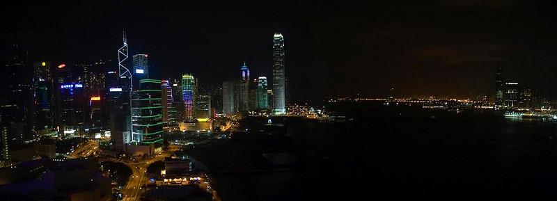Hong Kong Skyline night from Grand Hyatt, Hong Kong, China (11-8-08).psd