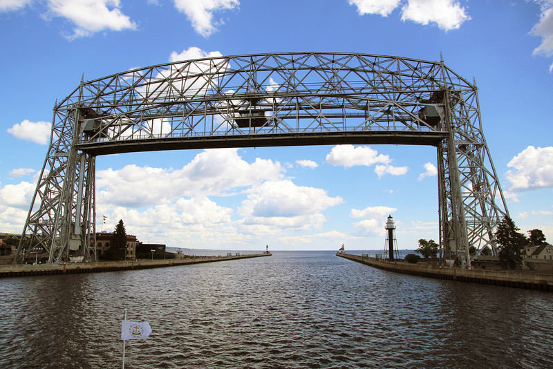 The Lift Bridge opens.  We leave Duluth.  Next, Bayfield, WI.