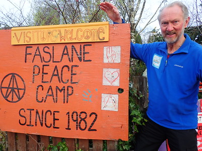 Passing the Faslane Peace Camp