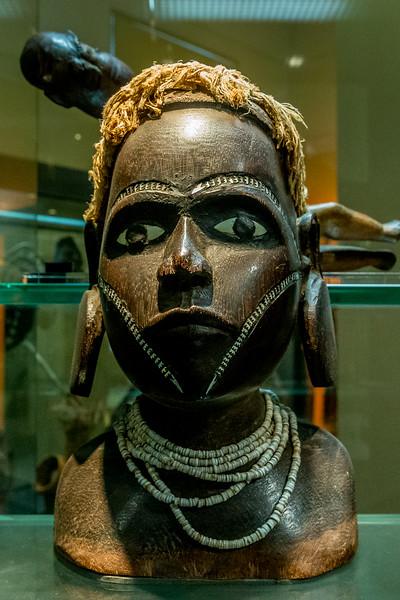 Büste aus den «Solomon Islands» im «Auckland War Memorial Museum»