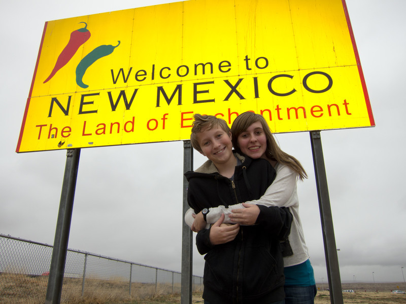 We made it to New Mexico in record time despite the rain.