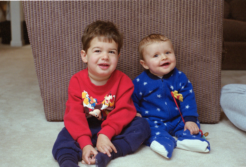 First cousins Josh Berenzeig and Noah Friedlander at Deep Creek Lake, MD July 1999  Frame #23 Scanned from 35mm negative in 2019.