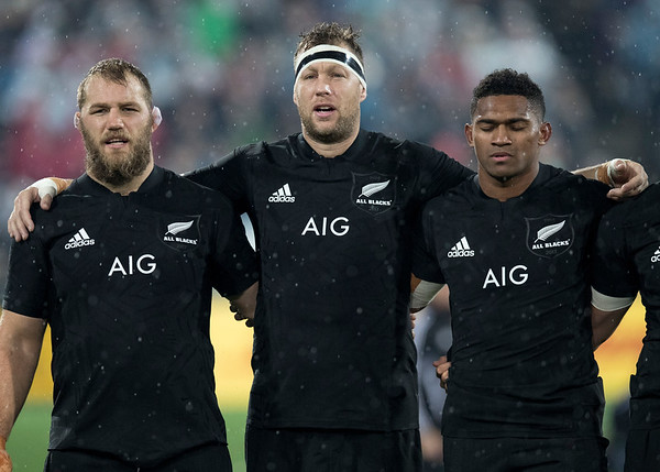 Owen Franks  Wyatt Crockett  Waisake Naholo during game 9 of the British and Irish Lions 2017 Tour of New Zealand, the second Test match between  The All Blacks and British and Irish Lions, Westpac Stadium, Wellington, Saturday 1st July 2017 (Photo by Kevin Booth Steve Haag Sports)  Images for social media must have consent from Steve Haag