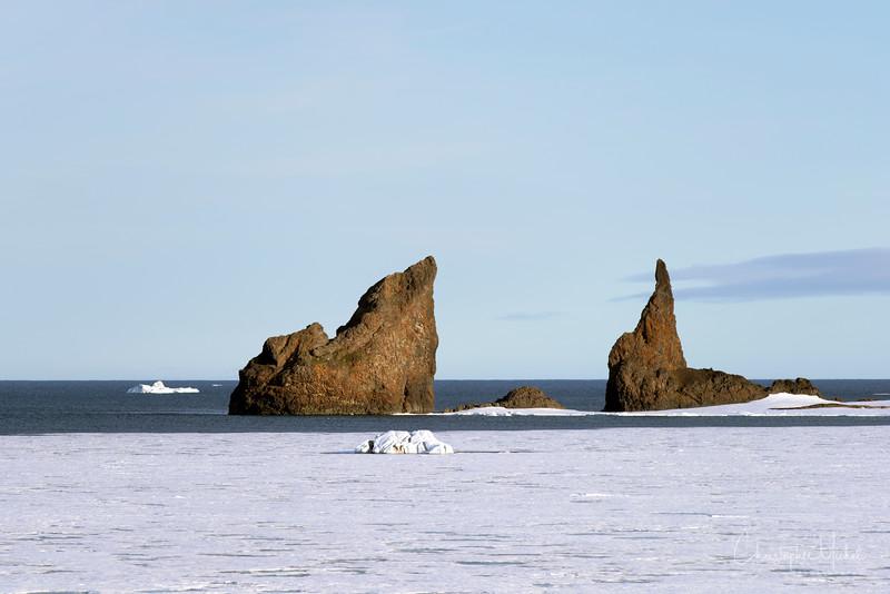 Basaltic Dykes Cape Tegethoff Franz Josef Land Russia..jpg