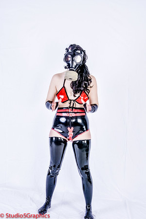 Devon latex gas mask leggings and gloves
