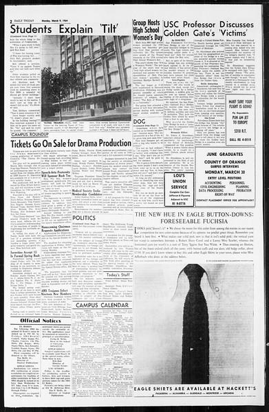 Daily Trojan, Vol. 55, No. 78, March 09, 1964