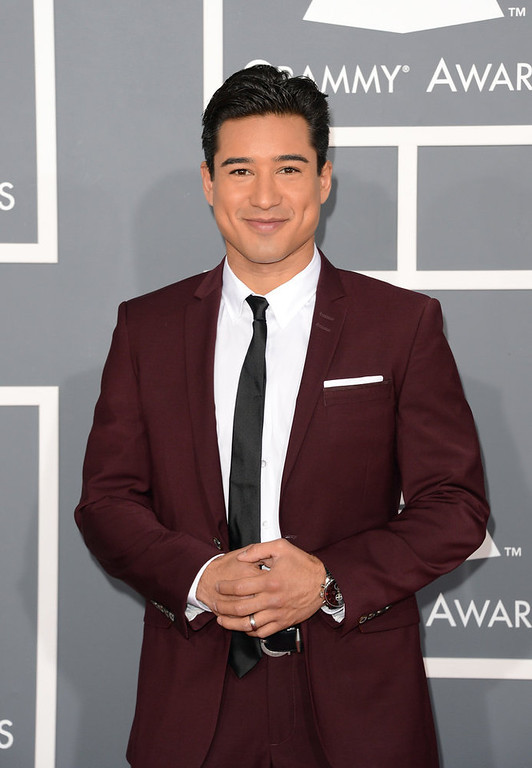 . TV personality Mario Lopez arrives at the 55th Annual GRAMMY Awards at Staples Center on February 10, 2013 in Los Angeles, California.  (Photo by Jason Merritt/Getty Images)