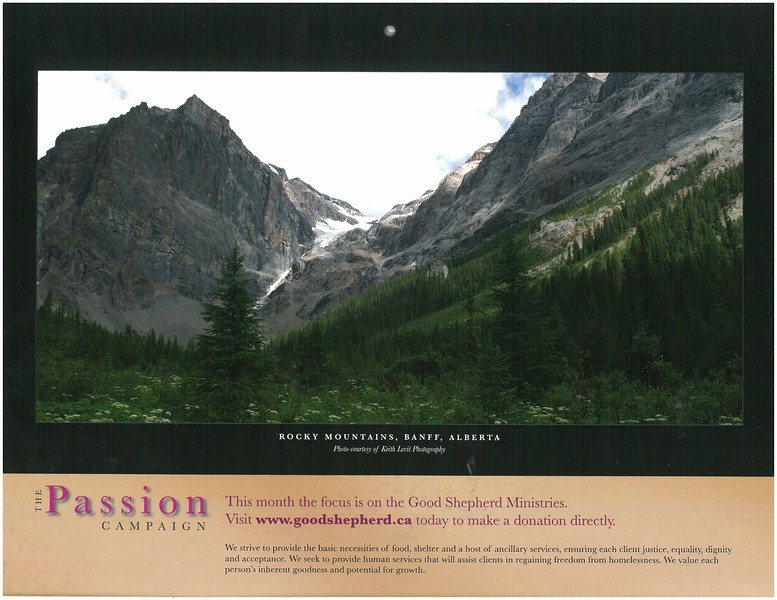 2009 Passion Campaign Calendar March 2009 Rocky Mountains, Banff, Alberta page.jpg
