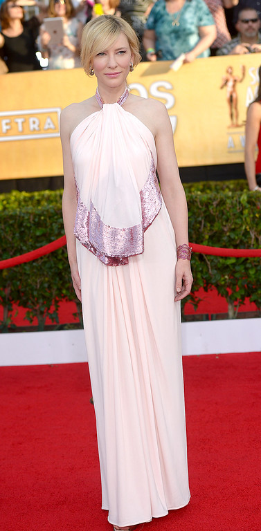 . Cate Blanchett arrives at the 20th Annual Screen Actors Guild Awards  at the Shrine Auditorium in Los Angeles, California on Saturday January 18, 2014 (Photo by Michael Owen Baker / Los Angeles Daily News)