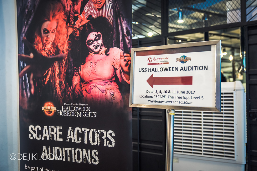 Universal Studios Singapore - Halloween Horror Nights 7 - The Auditions, Signage