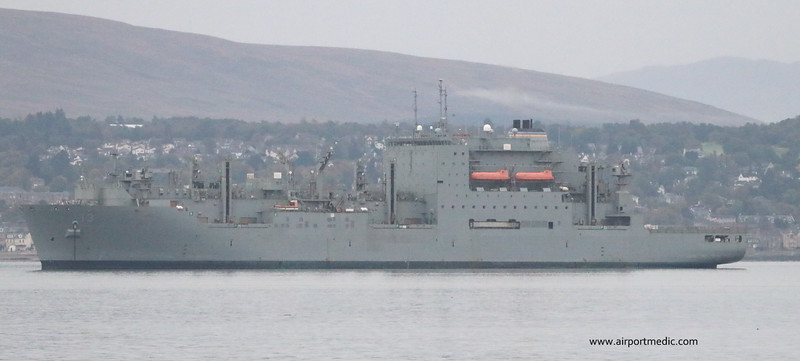 USNS Medgar Evers (T-AKE-13) on the Clyde